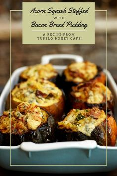 With fall arriving and squash in season, make our Acorn Squash Stuffed with Bacon Bread Pudding right from our cookbook! Click for the recipe.
