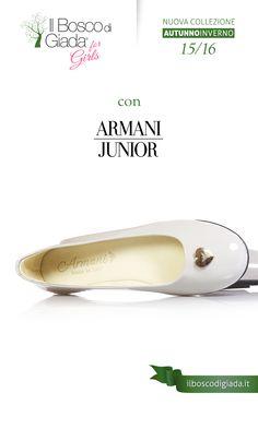 Nuova Collezione #ARMANI #junior Autunno-Inverno 15/16. #Scarpe per #bambini, #ragazzi e #donne alla #moda. Acquistale su www.ilboscodigiada.it - #shoes #FW1516