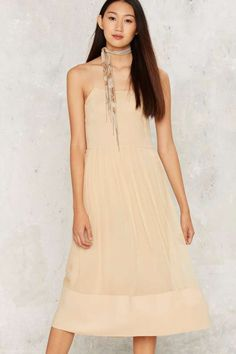 Vintage Chloé Send Nudes Silk Slip Dress - Vintage