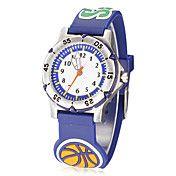 Round Dial Basketball Pattern Silicone banda ... – BRL R$ 31,00