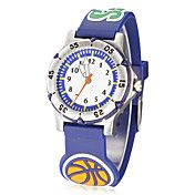 Round Dial Basketball Pattern Silicone banda ... – BRL R$ 31,00