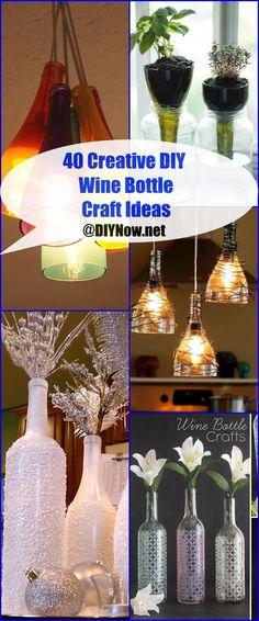 40 Creative DIY Wine Bottle Craft Ideas