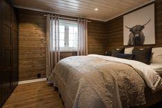 A mountain cabin bedroom