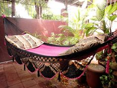 Beautiful Two Colors Single Hammock handwoven Natural by hamanica, $45.00