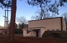 """Incarnate Word Lutheran Church, Florence, SC - I always call this the """"rock church"""" because of the rocks around the base!"""