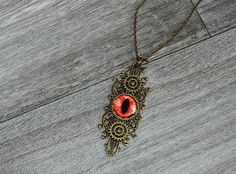 All Seeing by CognitiveByCatterall on Etsy Necklace Lengths, All Seeing Eye, Etsy Store, Costume Jewelry, Steampunk, Gothic, Pendant Necklace, Metal