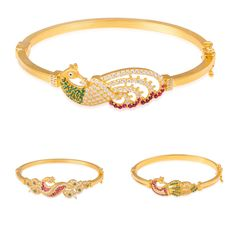 In Indian culture Peacock is a symbol of integrity and the beauty  we can achieve when we endeavour to show our true colours.  #GoldJewellery #Peacock #IndianStyle #ClaspBangle #YellowGold #CZStones #Beautiful #LadiesJewellery   #MarketOrders #OnlinePlatform #B4B #Connecting #Retailers #Manufacturers #UK #India #Singapore #Dubai #Worldwide