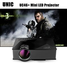 UNIC UC46+ Mini Simplified Micro LED Projector Wireless WIFI Full HD Video Home Cinema Proyector Support Miracast DLNA Airplay. ● Perfect for PPT or business introduction, perfect for home theater motion pictures and computer game ● Can give completely clear picture in dull, picture measure 36 - 130 inches, local, best offer
