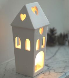 Ceramic House Lantern £10.50