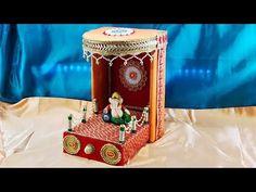 Art N Craft, Craft Stick Crafts, Craft Work, Paper Crafts, Diwali Decoration Items, Thali Decoration Ideas, Ganesh Chaturthi Decoration, Janmashtami Decoration, Ganapati Decoration