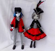 Pirate couple red and stripes clothes for MH and by DollsThell
