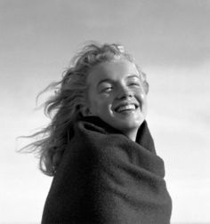Marilyn photographed by André de Dienes on Tobey Beach in 1949.
