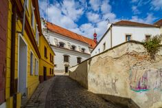 The streets of the city of Znojmo, Moravia, Czech Republic