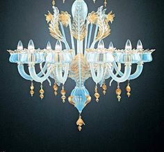 Ricambi per lampadari in vetro di murano foglia bassa for Lampadari murrina moderni