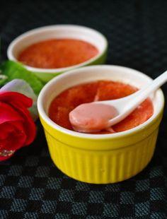 Rose Creme Brulee :) Valentines Idea