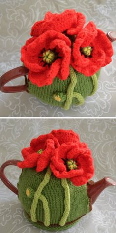 These Knitted Tea Cosy Patterns Are Super Cute Tea Cosy Knitting Pattern, Tea Cosy Pattern, Baby Knitting Patterns, Scarf Patterns, Crochet Patterns, Knitting Tutorials, Knitting Projects, Crochet Ideas, Finger Knitting