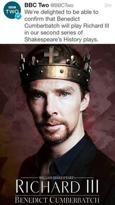 Best. News. Ever.  - both that the Hollow Crown series is doing another run AND that we get Cumberbatch this time around. Damnit BBC, just take my soul already.