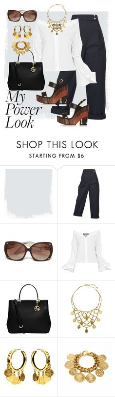 """Cocktails After Work"" by bigskydreams ❤ liked on Polyvore featuring Kenzo, Tom Ford, Jacquemus, MICHAEL Michael Kors, Ben-Amun and Jimmy Choo"