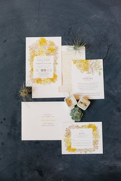 Dahlia Bouquet by Alethea and Ruth. Bright yellow florals for a perfect Spring or Summer wedding