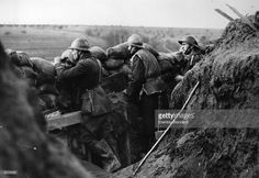 French troops about 200 metres from the German Front.