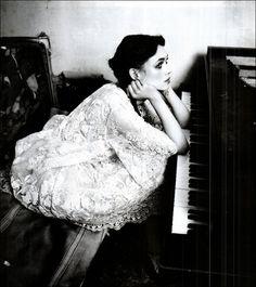 vintage piano.