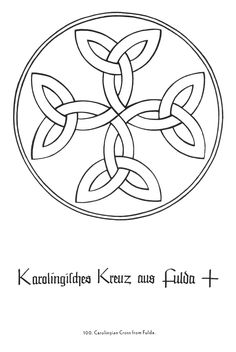 Carolingian Cross   Christian Symbols   drawn by Rudolf Koch  (1876-1934) with the collaboration of Fritz Kredel  (1900-1973)     From the book Christian  S...