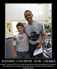 obama wearing a satanist t-shirt ..why am I not surprised?