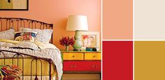 Vintage Paint Colors and Palette Home Style Guide: Intense Peach