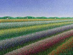 Fiori di Primavera Benedictine Monks, Pointillism, California Usa, Painting, Outdoor, Colourful Art, Paintings, Painting Art, Outdoors