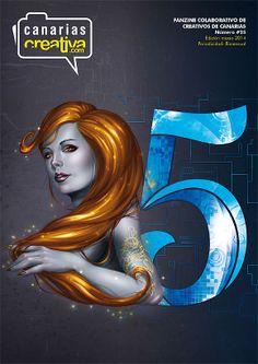 25th fanzine . Cover by Eduardo García Calderín & Cristian Melián Cabrera