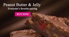 Peanut Butter & Jelly brownie ... ooh, boy!