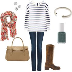 I have this outfit! My scarf is just a different color scheme.  LOVE!
