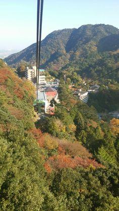 御在所岳ロープウェイからの紅葉。Mt.gozaisho ropeway.mie.japan.