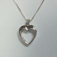 Vintage Sterling Silver Heart Pendant  Box by GregDeMarkJewelry