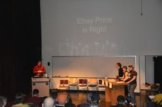 "That went for HOW MUCH?!?!?! This fandom is crazy... "" Ebay Price Is Right "" during Alpha Brony's @PONYCON GAME SHOW. Ponycon 2015 Brooklyn NY at St. Francis College."