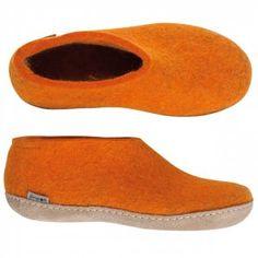 Glerups Danish House Shoe - Orange Felted Wool Beautiful Moomin shoes:)