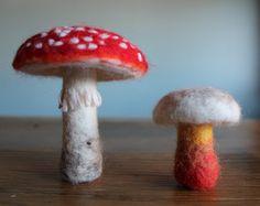 Needle Felted Mushroom  Custom by TheWonderRevolution on Etsy, $5.00