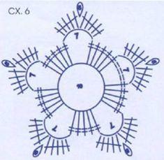 Best 12 – Page 353321533259255840 - Her Crochet Crochet Snowflake Pattern, Crochet Stars, Crochet Motifs, Crochet Snowflakes, Crochet Cross, Crochet Flower Patterns, Crochet Diagram, Thread Crochet, Crochet Granny