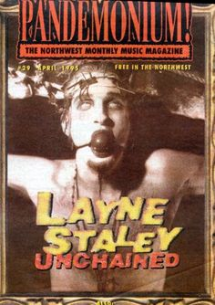Sound Of Music, Music Love, Grunge, Jerry Cantrell, Mad Season, Valley Girls, Alice In Chains, Music Magazines, Band Posters