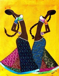 Gond tribal paintings - this looks like a more contemporary form of Gond art.