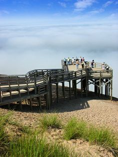 observation deck, Sleeping Bear Dunes National Lakeshore, Michigan