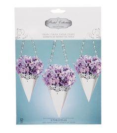paper cones for wedding pews!