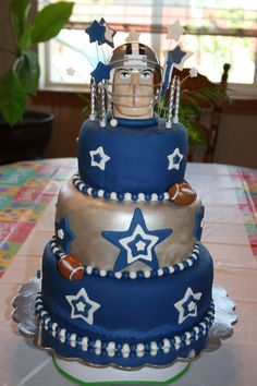 Dallas Cowboys cake for my love's birthday