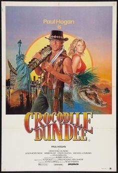 Crocodile Dundee original Australian New Zealand poster. Old Movies, Vintage Movies, Great Movies, Vintage Ads, Crocodile Dundee, Cinema Tv, Cinema Posters, Love Movie, Movie Tv