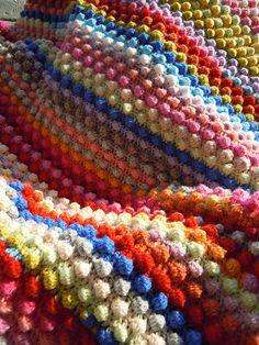 Ravelry: Blackberry Salad Striped Baby Blanket pattern by Tamara Kelly