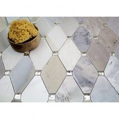Reflection Moonstone Marble & Mirrored Glass Tile