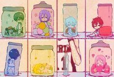 Kuroko no Basket- the generation of miracles - jars Kuroko Chibi, Akashi Kuroko, Anime Chibi, Midorima Shintarou, Kise Ryouta, Akashi Seijuro, Haikyuu, Yuri, Kiseki No Sedai