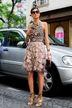 that dress is gorgeous. Gio in Milan. #GiovannaBattaglia