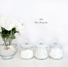 DIY Mason Storage Jars | Haute & Healthy Living