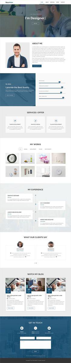 RezuMate - Personal Portfolio Template Personal portfolio - resume html template